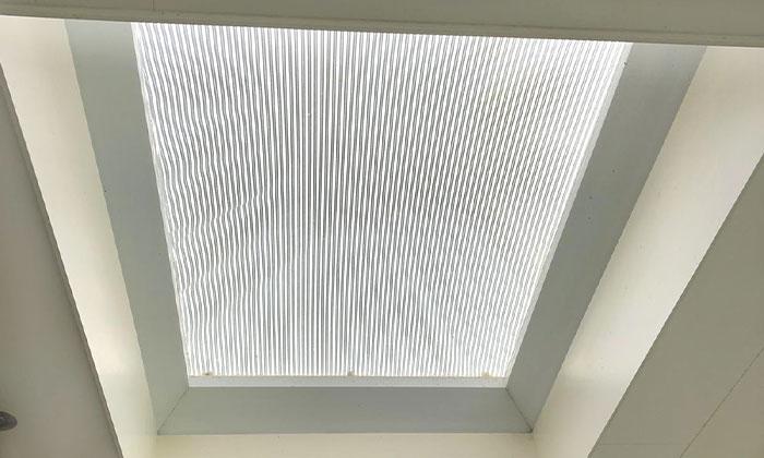 Binnenaanzicht aluminium buitenzonwering